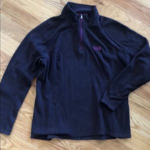 North Face 1/4 zip fleece pullover
